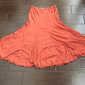 Petite Burnt Orange Maxi Skirt